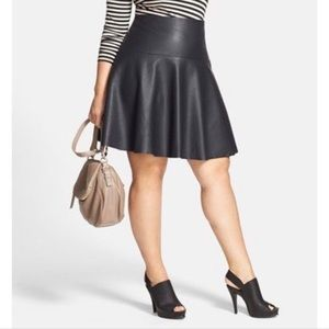 LANE BRYANT faux leather skirt size 18 NEW W/ TAG